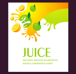 juice fruit liquid drops splash colorful background