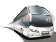 Reisebus, Luxusbus freigestellt - 74232859