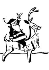 Santa Claus On Reindeer