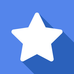 Long shadow icon with a star
