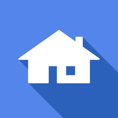 Long shadow icon with a house