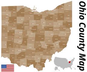 Ohio County Karte
