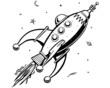 Retro Rocketship - 74233654