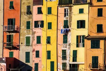Colored houses, like a palette