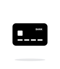 Credit card icon on white background.