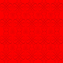 Red Abstract Background with Light Swirls