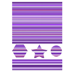 Purple Striped Shapes with a Completed Pattern