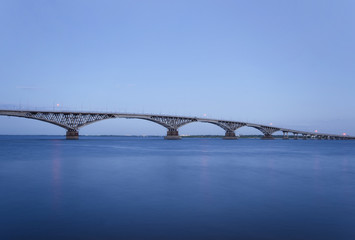 Road bridge in the evening