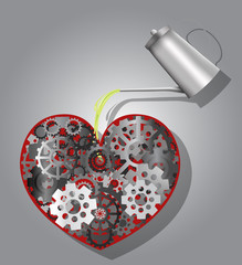 Mechanism in shape of heart