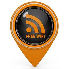 Free wifi pointer icon on white background
