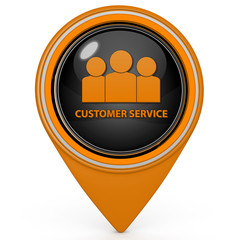 Customer service pointer icon on white background