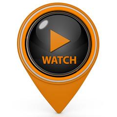 watch pointer icon on white background