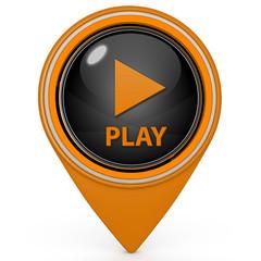 play pointer icon on white background