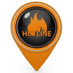 Hotline pointer icon on white background