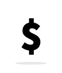 Dollar icon on white background.