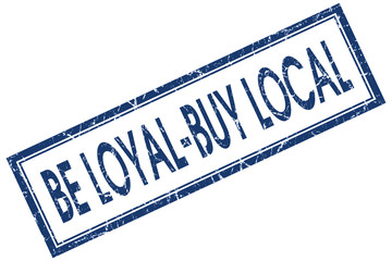 be loyal buy local blue square stamp