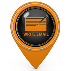 email pointer icon on white background