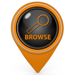 Browse pointer icon on white background