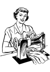 Lady Sewing