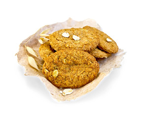 Cookies oatmeal on paper