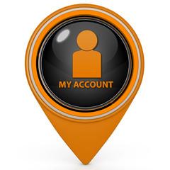 My account pointer icon on white background