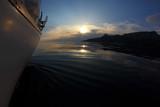 sunset aboard a sailing yacht