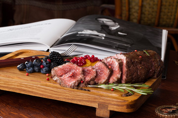 meat with berries