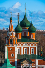 Yaroslavl. Image of ancient Russian city, view from the top