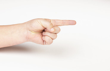 Hand pointing direction
