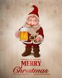 Santa Claus Beer greeting card