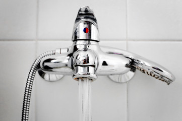 bath steel faucet
