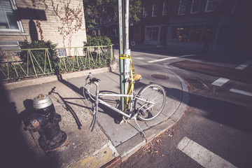 Bicicleta robada en NYC - filtro de color