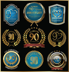 Anniversary golden labels collection