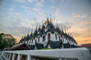 Loha Prasart pagoda in Wat Ratchanadda temple , Bangkok