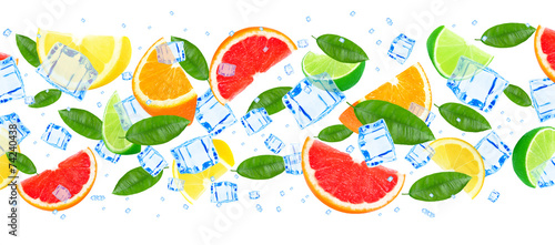 citrus fruit with ice