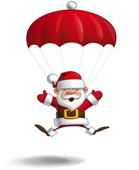 Happy Santa - Parachute Open Hands
