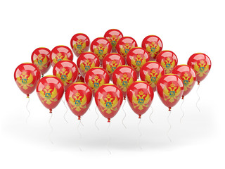 Balloons with flag of montenegro