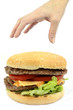 canvas print picture - burger