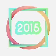 Interlocking square and circle with 2015