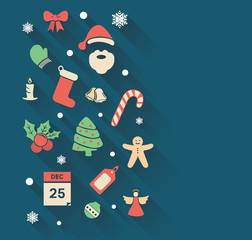 Christmas icons in hipster style vector