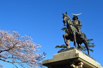 桜と伊達政宗像