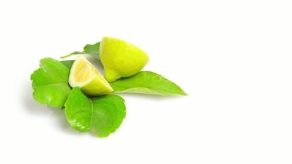 lemon  rotating on white background
