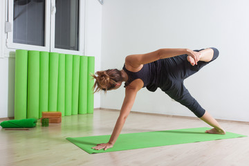 Wild thing variation yoga pose