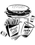 Burger, Fries & Soda - 74243297