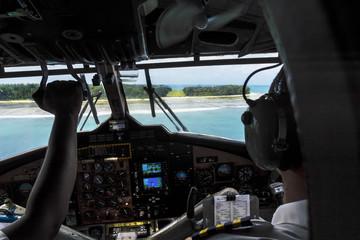 Landeanflug auf Denis Island