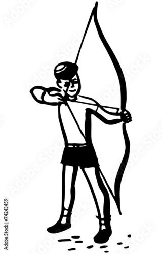 Boy With Bow And Arrow - 74243459