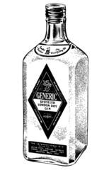 Bottle Of Distilled Gin
