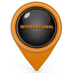 International pointer icon on white background