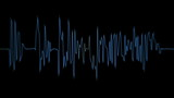 ANIMATION 4K OF AUDIO PERSON SPECTRUM IN BLUE