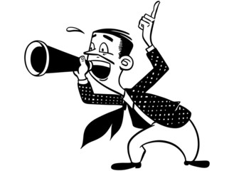 Announcer With Megaphone